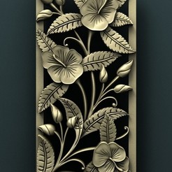 Download free 3D printing models Floral wall panel, stl3dmodel