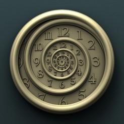 3d printer designs Spiral Wall Clock, Agorbar