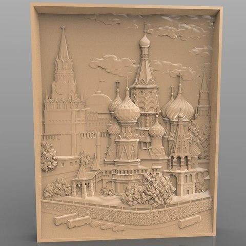Free 3D print files Moscow architecture cnc art , stl3dmodel
