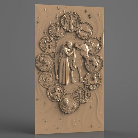 Download free STL file zodiak sign cnc router art, stl3dmodel