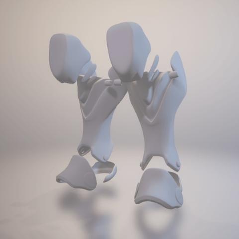 Download free 3D printer designs Blackwatch Reaper Legs