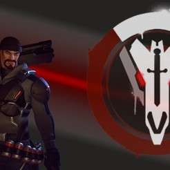 Download free 3D printer designs Blackwatch Reaper Legs Armour Cosplay - Overwatch, DonProps