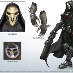 Download STL files Overwatch Reaper Hands - Left side, DonProps