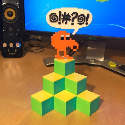 Download free 3D printer model Q-Bert Desk Tidy, AliG3D