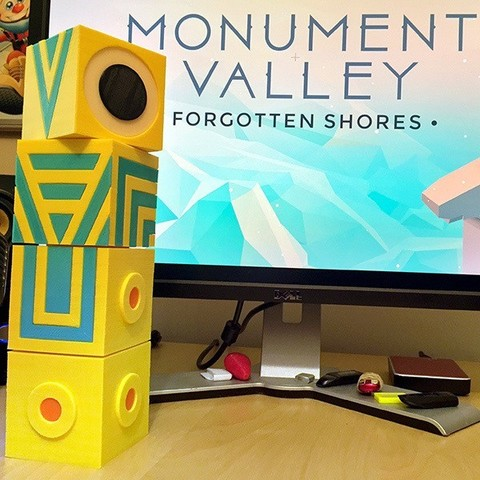 Download free 3D printer model Totem A Friend Monument Valley plus Ida, AliG3D