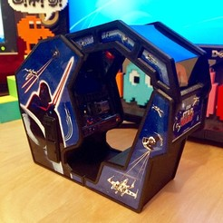 Download free 3D printer designs Atari Star Wars arcade cockpit cabinet, AliG3D