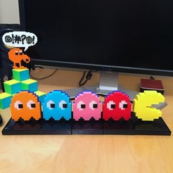 Free 3d printer designs PACMAN CHASER Mechanical Toy, AliG3D