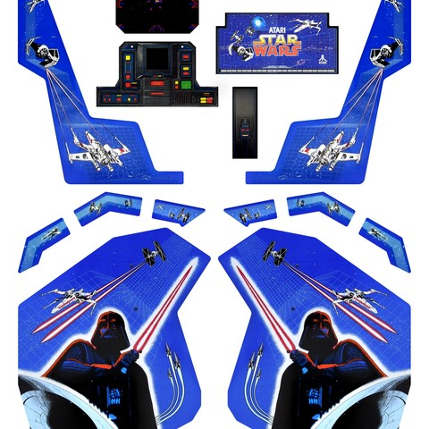 star wars artwork.jpg Download free STL file Atari Star Wars arcade cockpit cabinet • 3D printable model, AliG3D