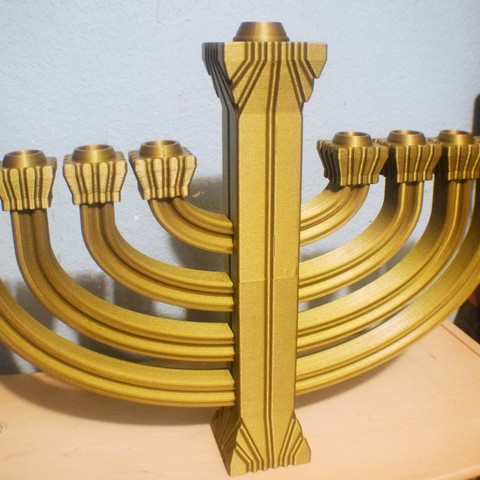 DSC_0172.JPG Download free STL file Menorah • Template to 3D print, ChrisBobo
