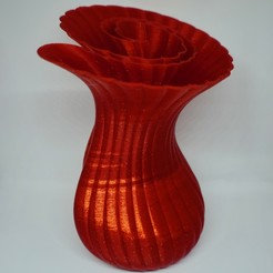 Download free 3D printer designs Tapered Monocoiled Vase, ChrisBobo