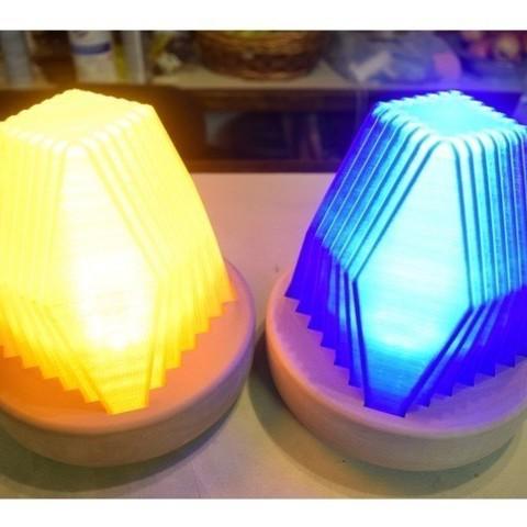 Download free 3D printing models Fractal Led Lamp, ChrisBobo
