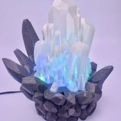 Download free STL Crystal Led Lamp 2, ChrisBobo