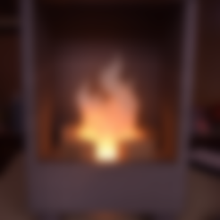 Free 3D printer files Minecraft/8-bit Led Fireplace, ChrisBobo