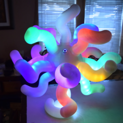 Free 3D printer file Amoeba LED Lamp-V1, ChrisBobo