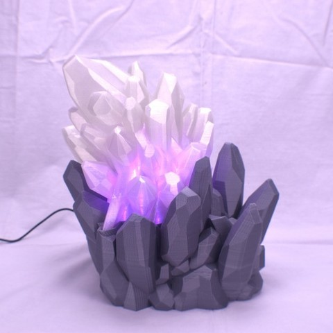 ddfb01097f20d8502a19149dcd1edef0_display_large.JPG Download free STL file Crystal LED Lamp • Design to 3D print, ChrisBobo