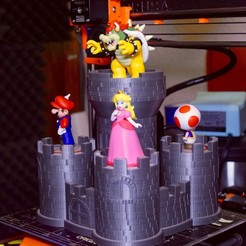 Free STL Bowser's Keep Amiibo Display Base, ChrisBobo