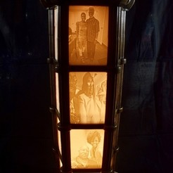 Free 3D printer files Modular Lithophane Lantern, ChrisBobo