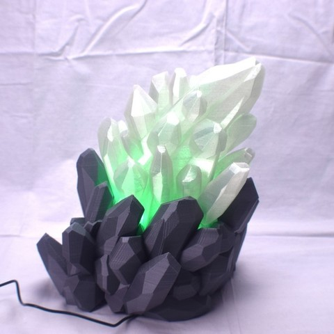 765917cf84f00cce2fe2667d92e04f90_display_large.JPG Download free STL file Crystal LED Lamp • Design to 3D print, ChrisBobo