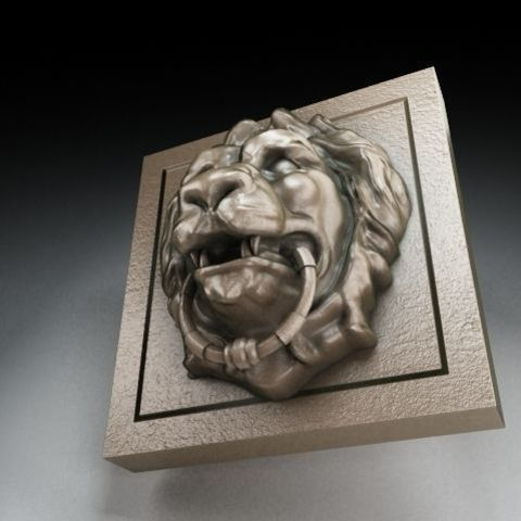 Low-poly 3D model of Lion Head