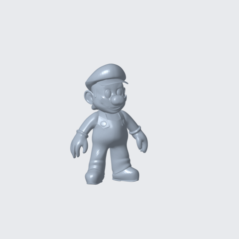 Download free 3D printing files mario.,, how to work on .stl file, CADEN