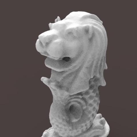 3D print files Merlion CAD, CADEN