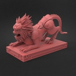 3D printer files Lion sculpture3 3D Model, CADEN