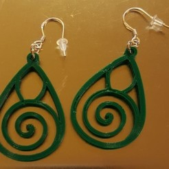 Modèle 3D gratuit Spiral Earrings, LucaKinoMaroni