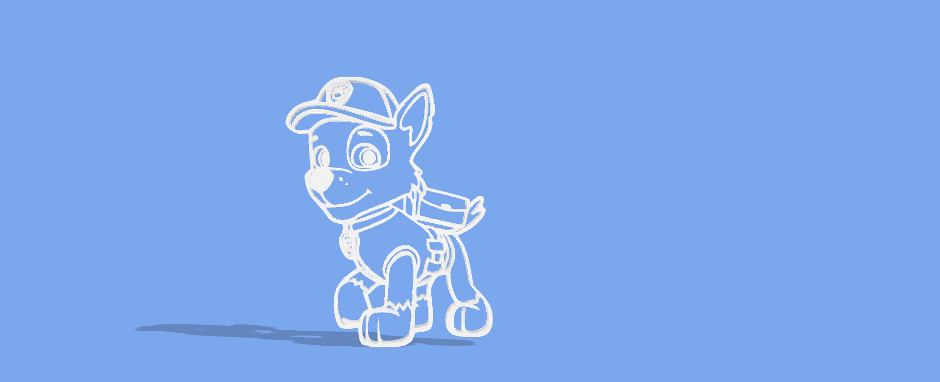 ROCKY PAW PATROL.png Download STL file Rocky paw patrol full body cookie cutter • 3D print model, Geralp