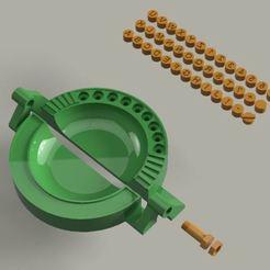 Download 3D printer templates Repulgator of empanadas with all the letters, Gerardolp