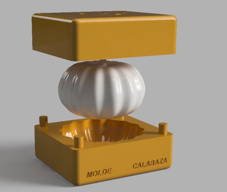 6.JPG Télécharger fichier STL MOULE À BOUGIE OU À SAVON EN FORME DE CITROUILLE • Objet à imprimer en 3D, Geralp