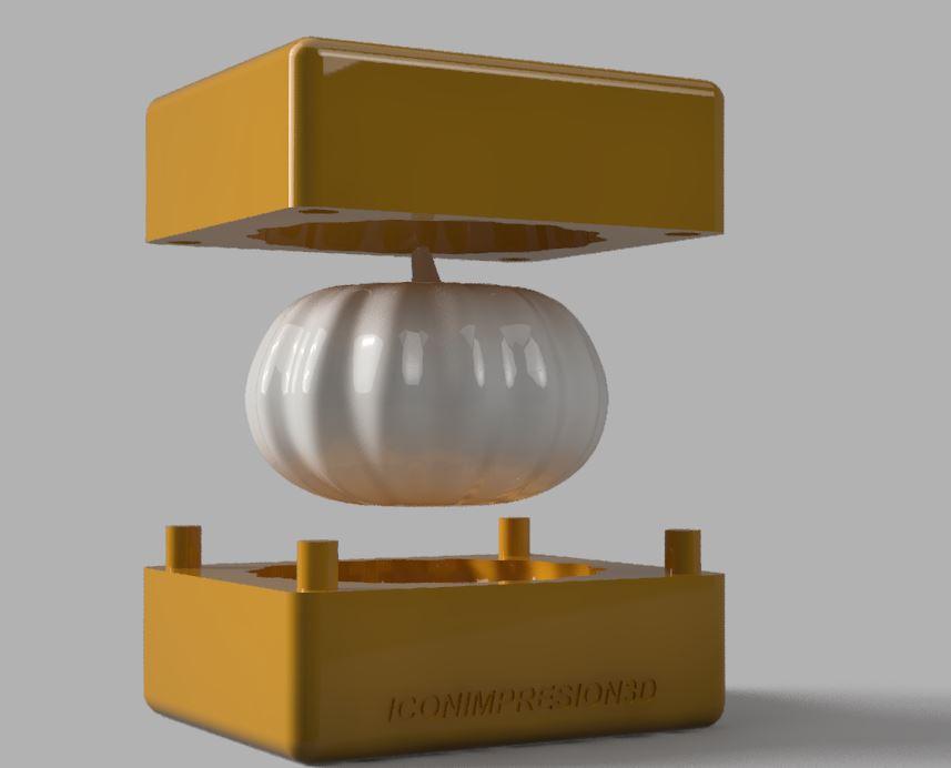 5.JPG Télécharger fichier STL MOULE À BOUGIE OU À SAVON EN FORME DE CITROUILLE • Objet à imprimer en 3D, Geralp