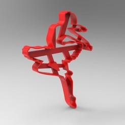 Modelos 3D Bailarina Ballet cookie cutter , Gerardolp