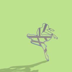 Descargar modelos 3D Bailarina Ballet cookie cutter , Gerardolp
