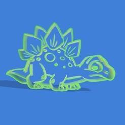 Impresiones 3D Stegosaurio animado cookie cutter , Gerardolp