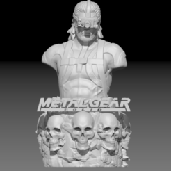 1.PNG Download OBJ file Metal Gear Solid : Snake Bust • Object to 3D print, Geralp