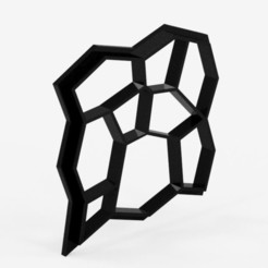 1.JPG Download STL file Matrix for making cement floors • 3D printing template, Geralp