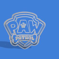 Descargar modelos 3D para imprimir escudo paw patrol cookie cutter , Gerardolp