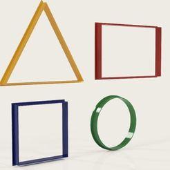 Download 3D printing templates SET Basic geometric figures, Geralp