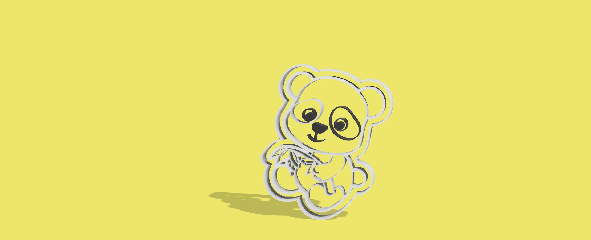 pandi bambu v1.png Download STL file Panda Bambu cookiie cutter • Design to 3D print, Geralp