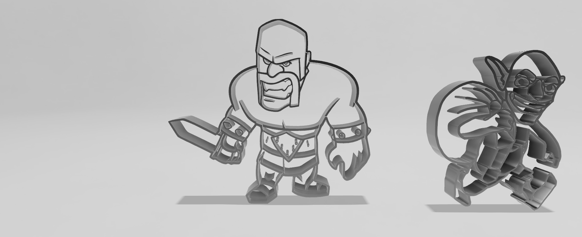 set clash royale v4.png Download STL file barbaro clash of royale cookie cutter • Template to 3D print, Geralp
