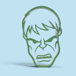 Impresiones 3D gratis Hulk cookie cutter , Gerardolp