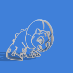 3D printer files Triceratops animated cookie cutter, Gerardolp