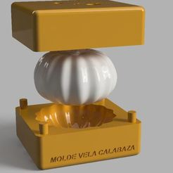Download free STL MOLD FOR MAKING CANDLES OR PUMPKIN-SHAPED SOAPS, Gerardolp