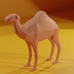 Télécharger fichier imprimante 3D gratuit Chameau à faible taux de poly, Geralp