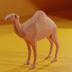 Download free 3D print files Low poly camel, Geralp