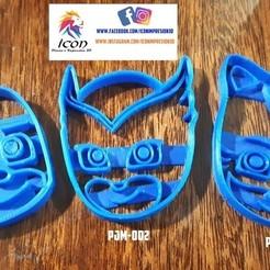 3d model Pj Mask cookiie cutter, Gerardolp