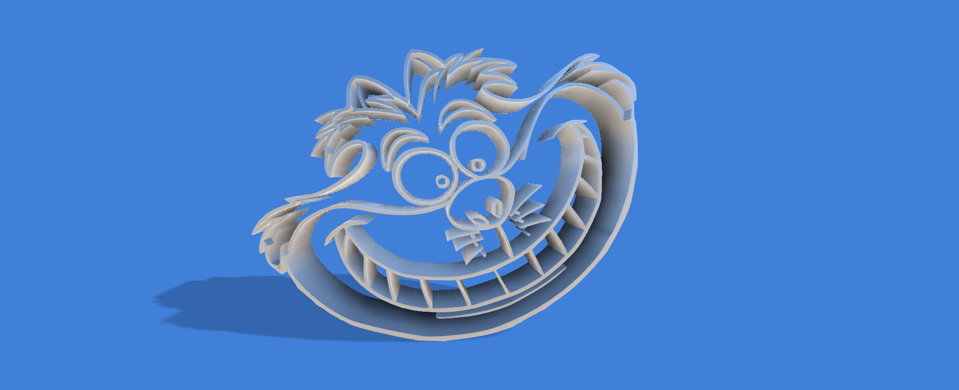 cara de sonriente v1.png Download STL file Smiling Alicia cookie cutter • 3D print object, Geralp