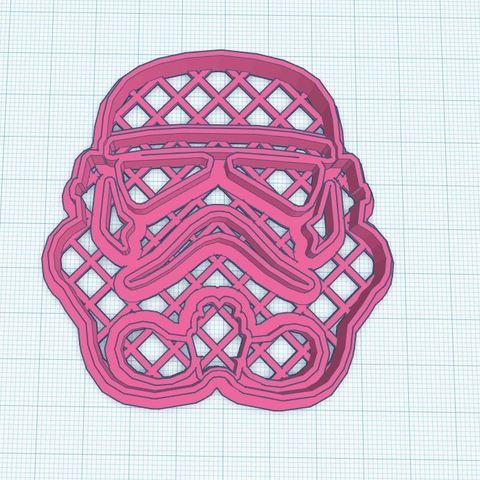 Descargar Modelos 3D para imprimir gratis Casco Storm Trooper cookie cutter , Gerardolp