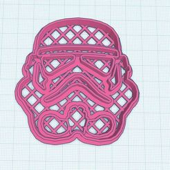 Download free 3D printing models Helmet Storm Trooper cookie cutter, Gerardolp