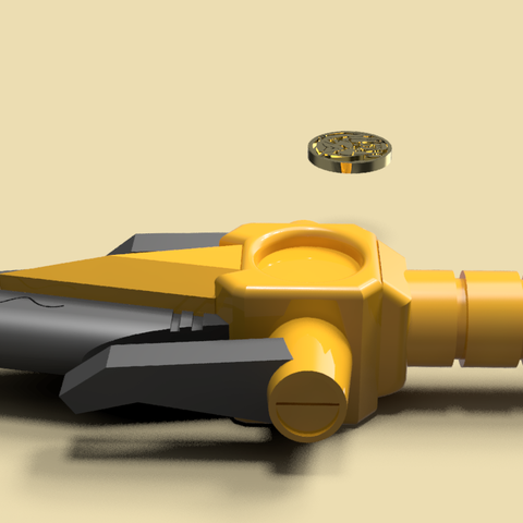 4.png Download STL file Power Dagger Ranger Yellow Super Sentai • 3D printable template, Geralp
